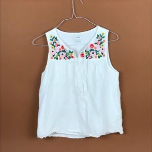 Jcrew embroidered tank